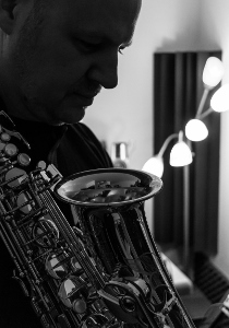 In the studio with my favourite alto saxophone, March 2014