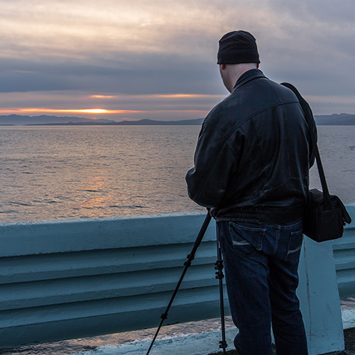 Capturing Sunset Near The Breakwater, Victoria BC Canada, 2014