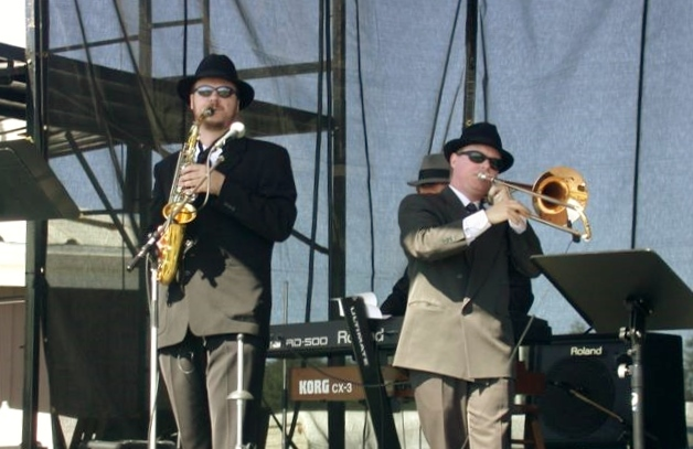 Performing with Soul Station at the Saanich Fair, 2003