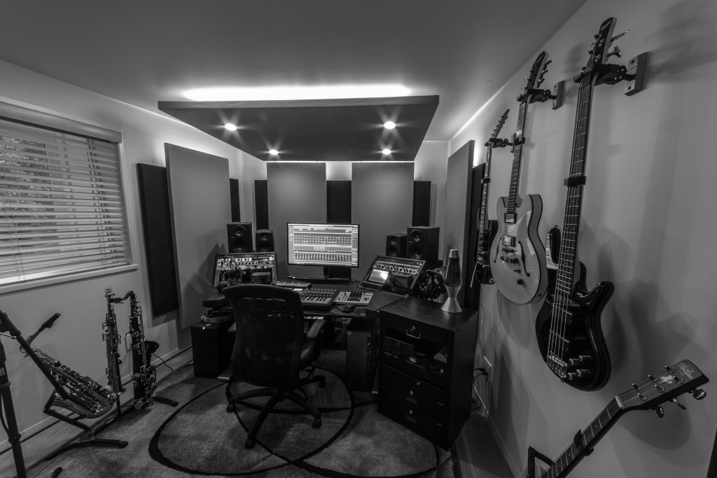 My home studio, 2018